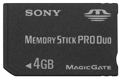 Sony Memory Stick Pro Duo - 4 GB